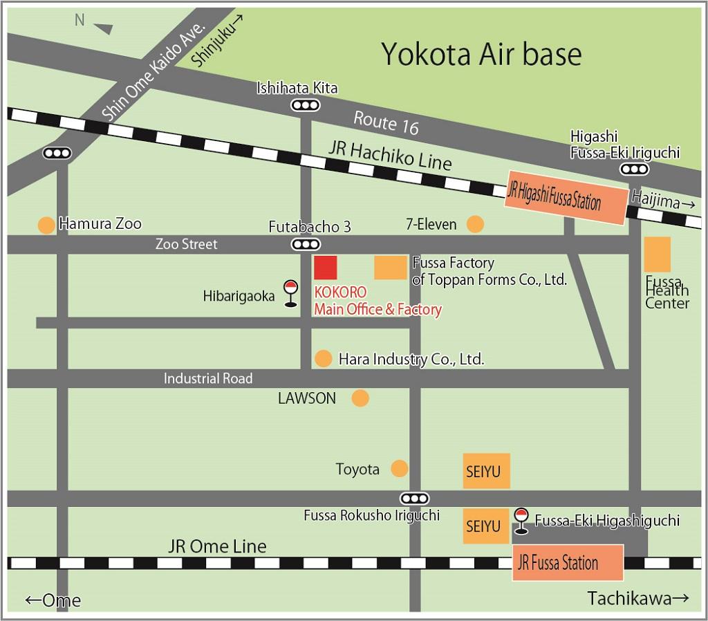 Directions and map | Copyright(c) Kokoro Company Ltd